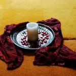 Kerze im Andachtsraum